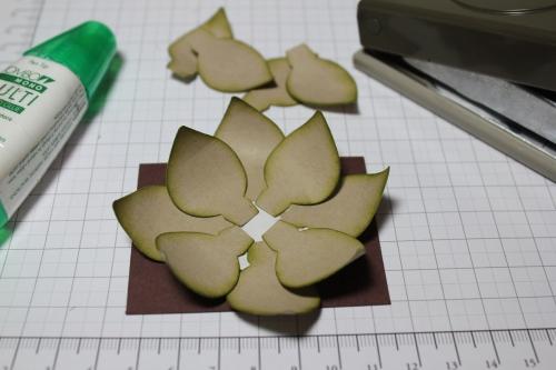 Blume/Seerose basteln mit den Framelits Formen Christbaumschmuck/Ornament Keepsakes, Bild7, gebastelt mit Produkten, Stempeln und Stanzen von Stampin\' Up!