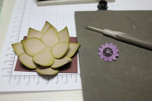 Blume/Seerose basteln mit den Framelits Formen Christbaumschmuck/Ornament Keepsakes, Bild10, gebastelt mit Produkten, Stempeln und Stanzen von Stampin\' Up!