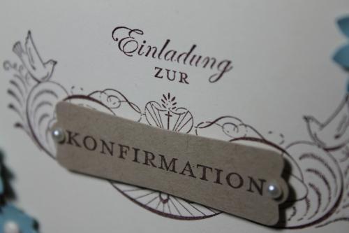 Einladung zur Konformation,Stempelset