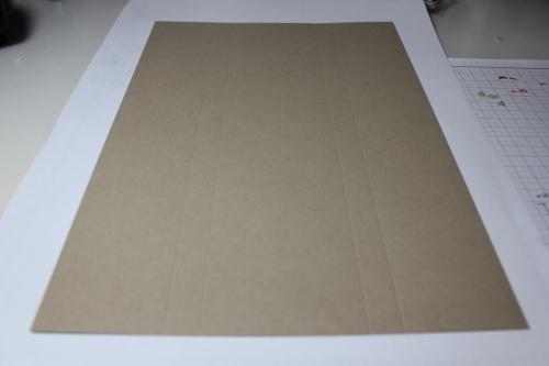 Bastelanleitung für eine Papierbox, Bild1, gebastelt mit Produkten, Stempeln und Stanzen von Stampin\' Up!