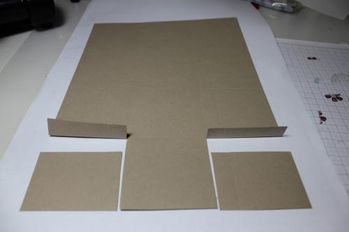Bastelanleitung für eine Papierbox, Bild3, gebastelt mit Produkten, Stempeln und Stanzen von Stampin\' Up!