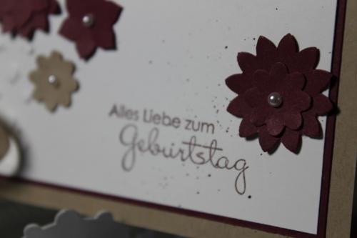 Geburtstagskarte zum 55. Geburtstag, mit Boho-Blütenstanze und Stempelset Perfekte Pärchen,Bild3, gebastelt mit Produkten, Stempeln und Stanzen von Stampin\' Up!