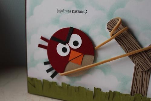 Grußkarte Angy Birds, benutzt wurden verschiedene Kreisstanzen und das Stempelset Perfekt Pärchen, Bild2, gebastelt mit Produkten, Stempeln und Stanzen von Stampin\' Up!