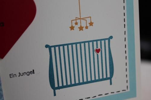 Karte zu Geburt, benutzt wurde das Stempelset