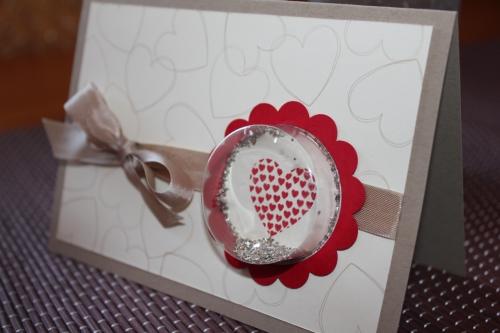 Karte zum Valentinstag, benutz wurde das Stempelset