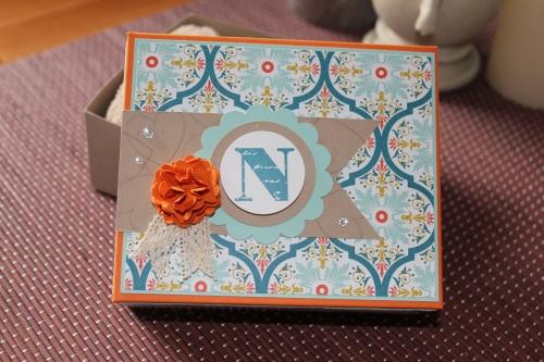 Geschenkbox für Babyschuhe, benutzt wurde das Sale-A-Bration Papier