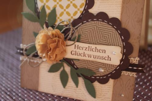 Geburtstagskarte mit Kaffeefilterblume und Wellenkreisstanze, Bild2, mit Produkten, Stempeln und Stanzen von Stampin\' Up!