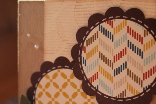 Geburtstagskarte mit Kaffeefilterblume und Wellenkreisstanze, Bild3, mit Produkten, Stempeln und Stanzen von Stampin\' Up!