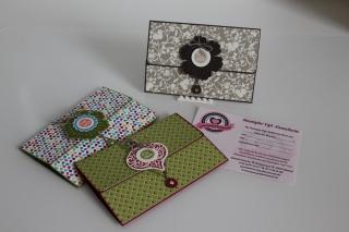 Gutscheine für Stampin\' Up1 Produkte schön verpackt, gebastelt mit Produkten, Stempeln und Stanzen von Stampin\' Up!