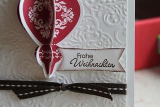 Grußkarte zu Weihnachten mit Ornament, gebastelt mit Produkten, Stempeln und Stanzen von Stampin\' Up!