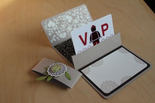 Gutscheinverpackung offen, gebastelt mit Produkten, Stempeln und Stanzen von Stampin\' Up!