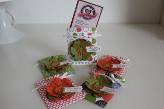 Hüllen für Visitenkarten, gebastelt mit Produkten, Stempeln und Stanzen von Stampin\' Up!
