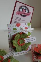 Hülle für Visitenkarten, gebastelt mit Produkten, Stempeln und Stanzen von Stampin\' Up!