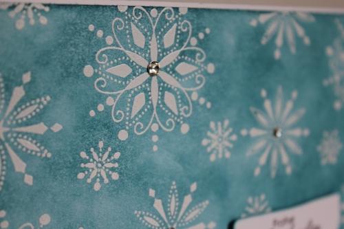 Grußkarte zu Weihnachten, gestempelt mit Schneeflocken aus dem Stempelset Snow Swirled, gebastelt mit Produkten, Stempeln und Stanzen von Stampin\' Up!