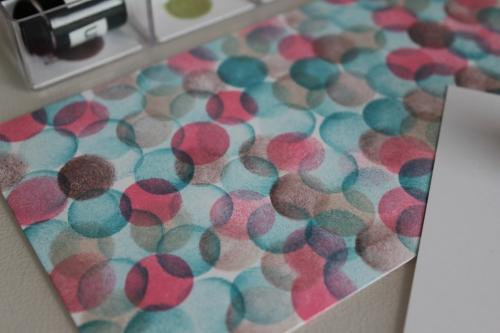 Selbstgestempeltes Muster mit den Schwämmchen, gebastelt mit Produkten, Stempeln und Stanzen von Stampin\' Up!