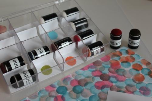 Aufbewahrung für die Schwämmchen, gebastelt mit Produkten, Stempeln und Stanzen von Stampin\' Up!