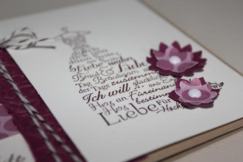Grußkarte zur Hochzeit mit dem Stempelset Zum Schönsten Tag im Leben, gebastelt mit Produkten, Stempeln und Stanzen von Stampin\' Up!