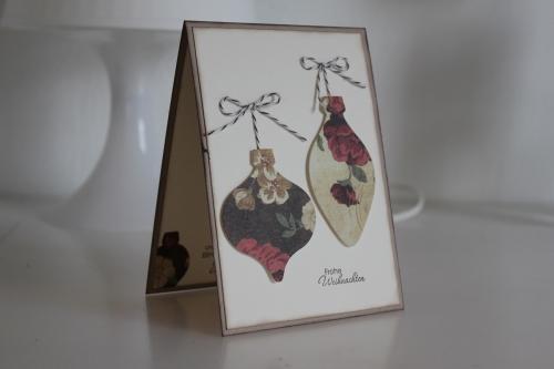 GrußKarte von meiner Mama mit den Framelits Formen Ornament Keepsakes, gebastelt mit Produkten, Stempeln und Stanzen von Stampin\' Up!