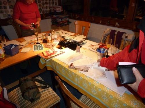 Workshoptisch nachher, Bild4, gebastelt mit Produkten, Stempeln und Stanzen von Stampin\' Up!