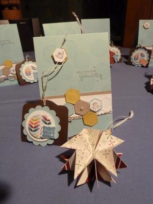 Workshop gebastelte Werke, Bild2, gebastelt mit Produkten, Stempeln und Stanzen von Stampin\' Up!