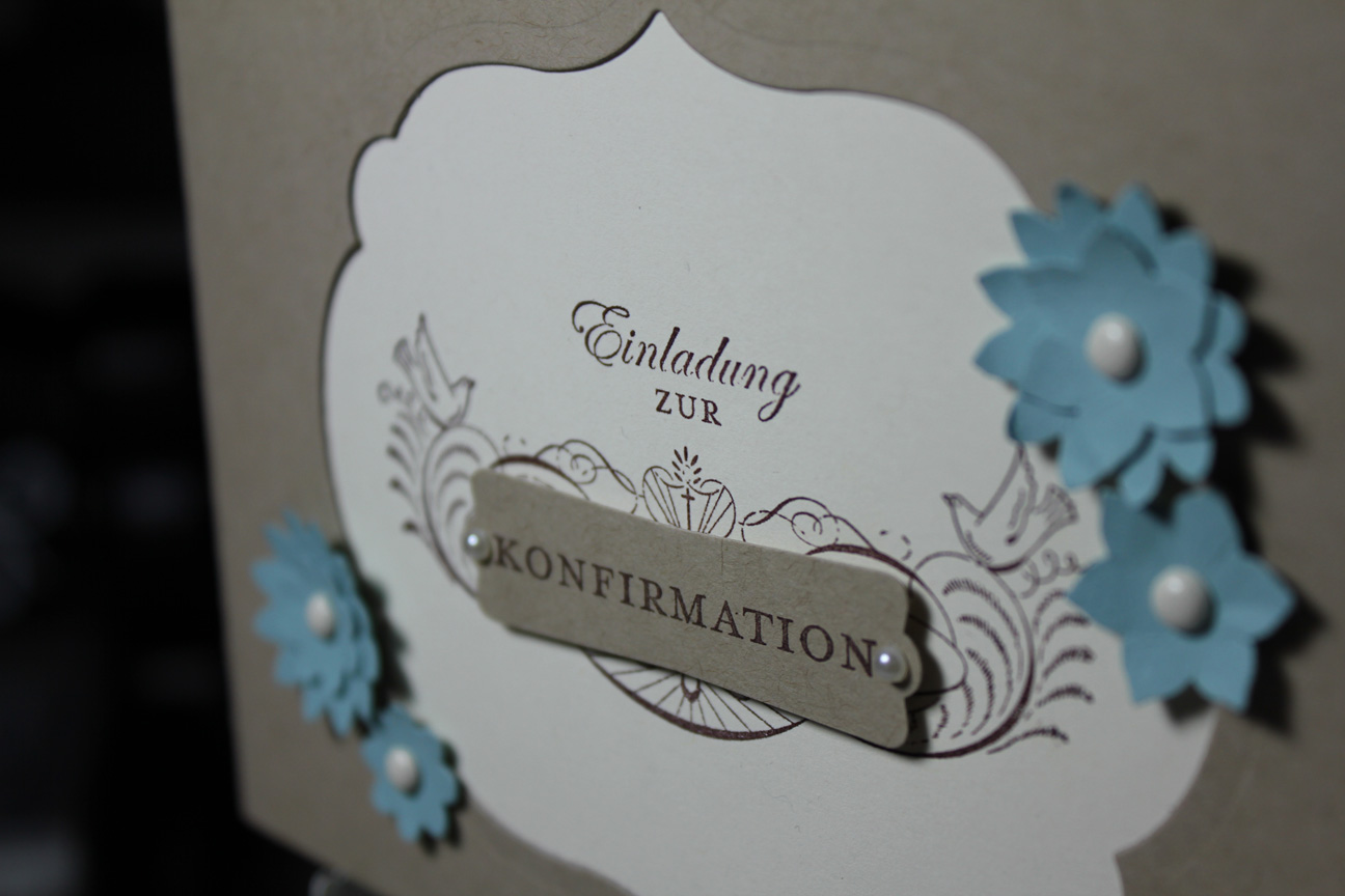 Einladungskarte Konfirmation/Kommunion-Stempel doch mal-Stampin Up!