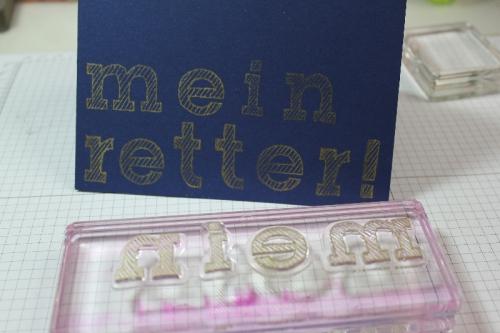Buchstaben auf Acrylblock