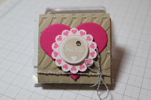 Verpackung für Ritter Sport Schokolade, Schritt 10, gebastelt mit Produkten, Stempeln und Stanzen von Stampin\' Up!