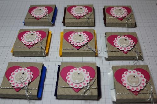 Verpackung für Ritter Sport Schokolade, Schritt 11, gebastelt mit Produkten, Stempeln und Stanzen von Stampin\' Up!
