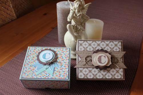 Verpackung/Box verziert mit Designerpapier, gebastelt mit Produkten, Stanzen und Stempeln von Stampin\' Up!