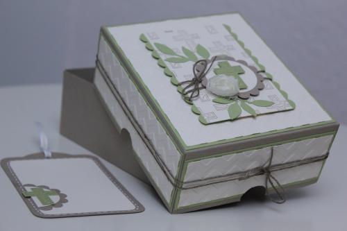 Geschenkbox zur Konformation oder Kommunion, benutzt wurde das Stempelset