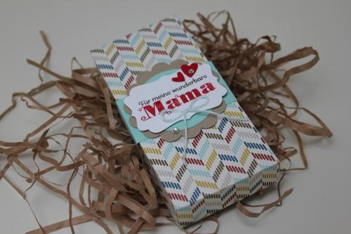 Verpackung zum Muttertag, benutzt wurde das Stempelset