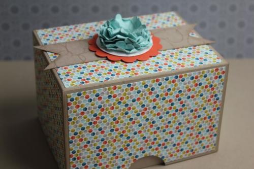 Box/Verpackung für Babyschuhe, Bild3, gebastelt mit Produkten, Stanzen und Stempeln von Stampin\' Up!