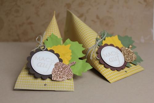 Herbstliche Geschenkverpackung, Bild1, gebastelt mit Produkten von Stampin\' Up!