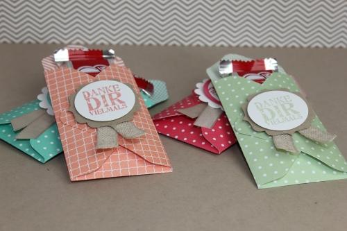 Kleine Verpackung mit der Stanztafel für Briefumschläge, Bild1, gebstelt mit Produkten von Stampin\' Up!