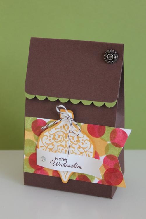 Weihnachtliche Verpackung mit Ornament Keepsakes, gebastelt mit Produkten, Stempeln und Stanzen von Stampin\' Up!