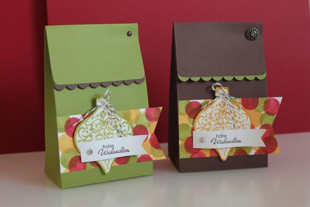 Weihnachtliche Verpackung mit Ornament Keepsakes, gebastelt mit Produkten, Stempeln und Stanzen von Stampin' Up!