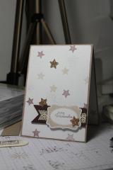 Grußkarte zu Weihnachten mit der Sternenstanze und dem Stempelset Merry Minis, gebastelt mit Produkten, Stempeln und Stanzen von Stampin\' Up!