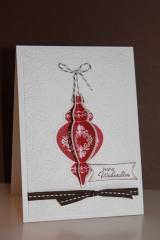 Grußkarte zu Weihnachten mit Ornamenten, gebastelt mit Produkten, Stempeln und Stanzen von Stampin\' Up!