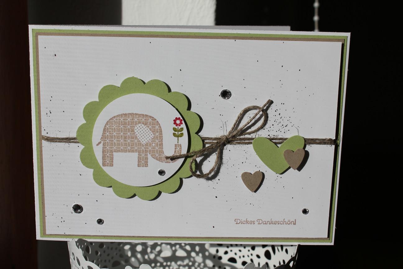 """Die Küchenschlacht Karten ~ danksagungskarte""""dickes dankeschön"""" stempel doch mal stampin' up!"""