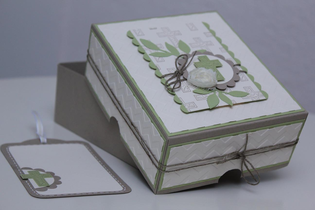 geschenkbox konfirmation stempel doch mal basteln mit stampin 39 up. Black Bedroom Furniture Sets. Home Design Ideas