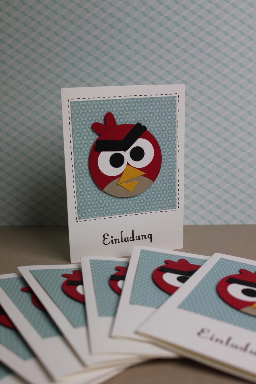 Geburtstagskarte Angry Birds Stempel Doch Mal Mit Stampin Up