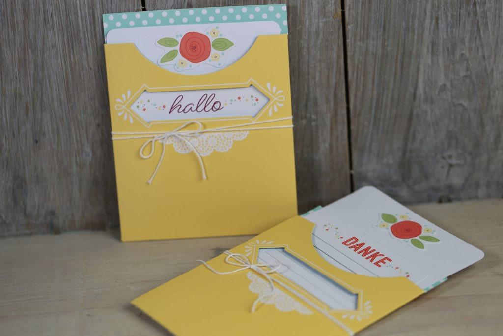 Kartenset Kreativ kuvertiert