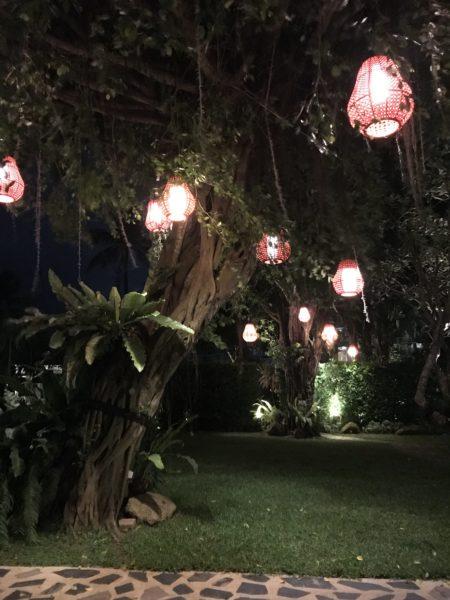 Die Hotalanlage bei Nacht