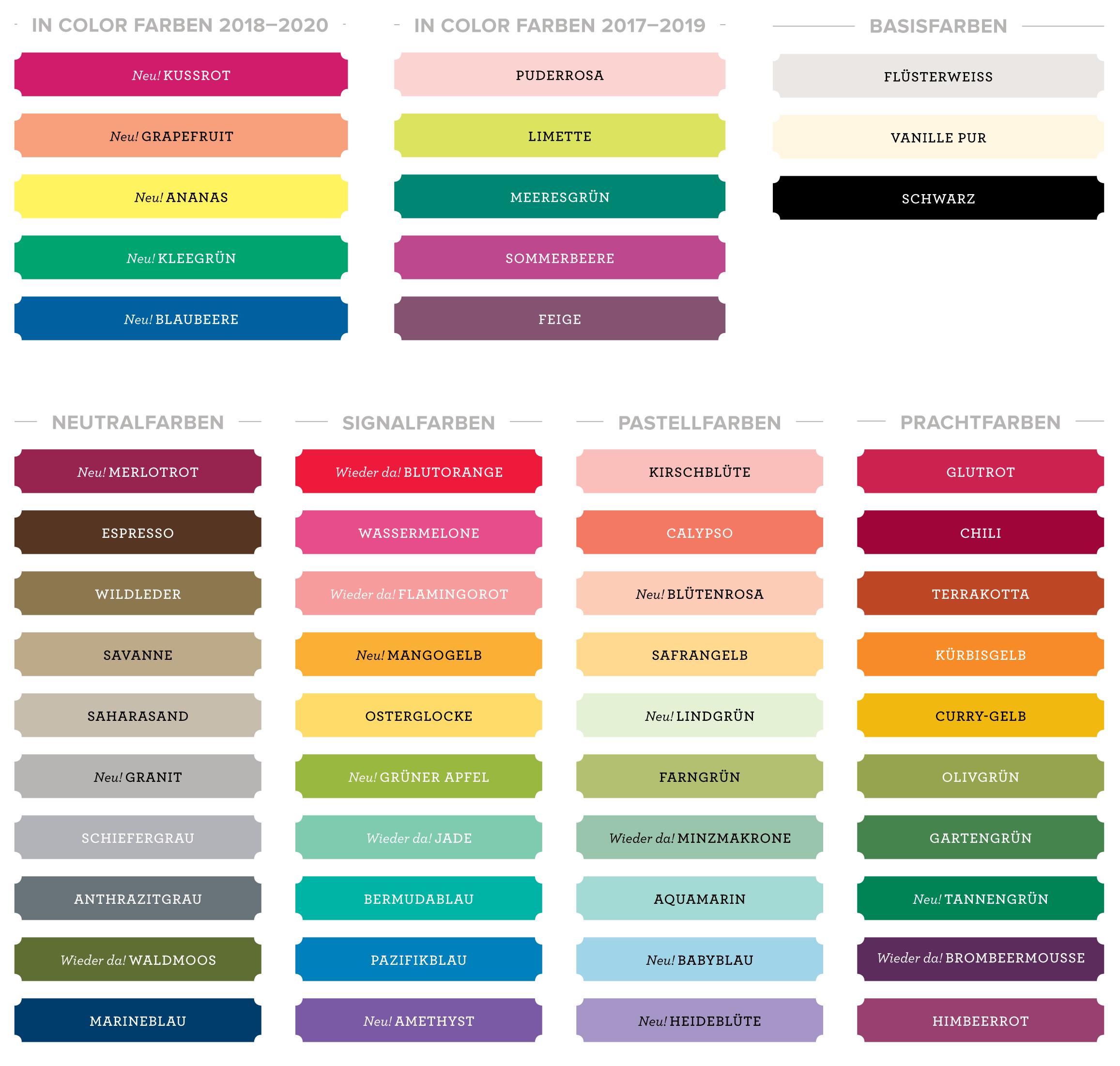 Welche Farben Gibt Es.Farberneuerung Und Die Neuen Stempelkissen Im Video Erklärt